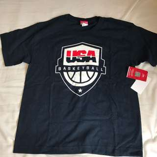 New Team USA Basketball Navy Tee Size 8 Youth Small