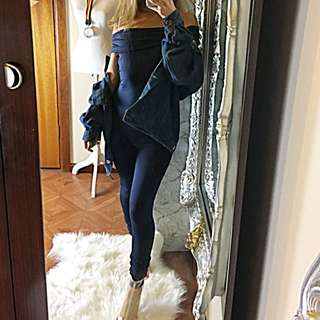 Navy Blue One Piece Sleeveless Off Shoulder Jumpsuit S 6 8