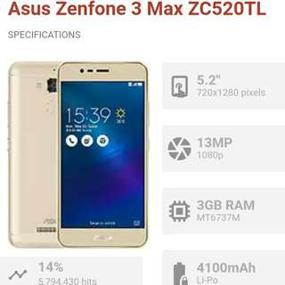 ASUS Zenfone Max3 Gold