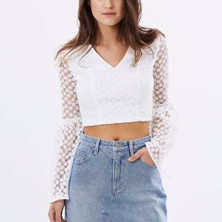Bell Sleeved Crop Top