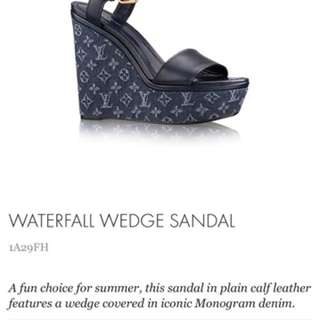 URGENTLY LOOKING TO BUY THESE LOUIS VUITTON BLUE WEDGE