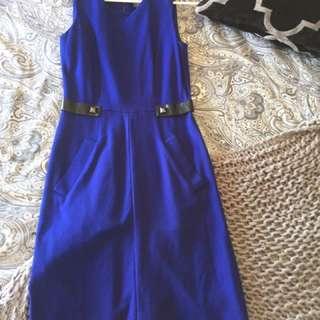 Sz8 Stunning Blue Dress