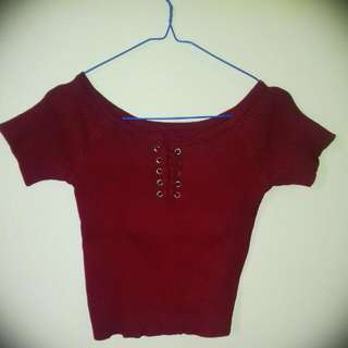 Crop Blouse Rajut