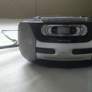 Centrios portable cd radio cassette recorder
