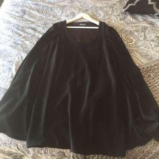 Black Shift Cape Dress