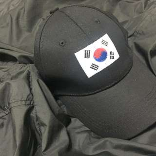 Black Korean flag dad hat