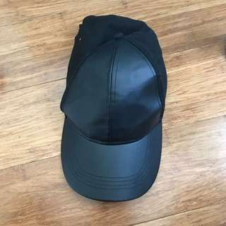 Leather cap: cotton on