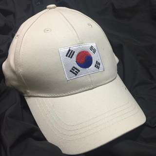 Beige Korean flag dad hat