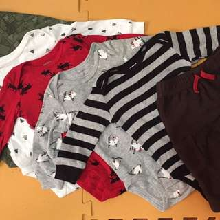 Longsleeved Onesies And Pant Set