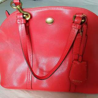 Red Authentic coach Purse