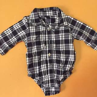 BabyGap Polo Plaid Onesie