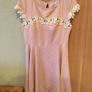 Peach/tan Summer Dress