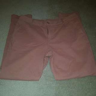 Pink Cargo Style Pants