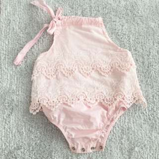 Baby Girl Lacey Romper