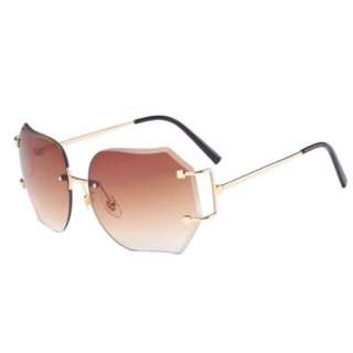 Brand New Brown Rimless Sun Glasses