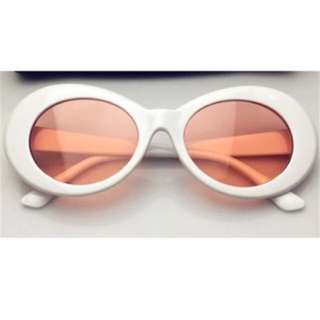 Oval Retro Glasses Coloured Lens