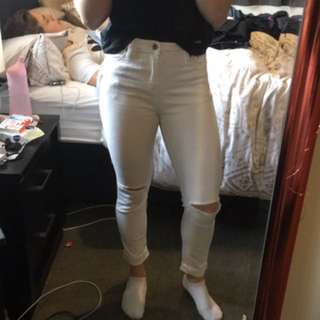 White Junkfood Jeans
