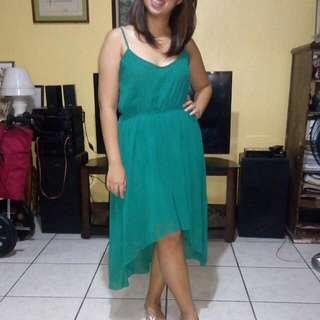 Branded High-Low Dress