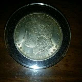 1884 Morgan Silver Dollar