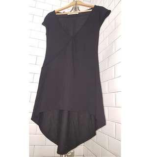 REPRICED Mental asymmetrical black dress