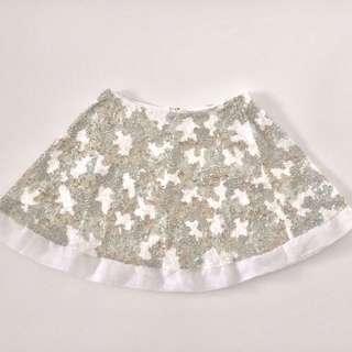 Aje Sorian Skirt White Camo