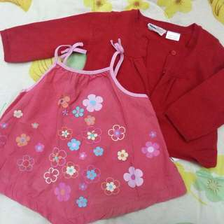 Preloved Set Baby Cardigan & Blouse