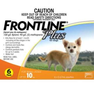 Frontline Plus (up to 10kg Dogs)