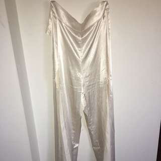 Meshki Satin Split Pants