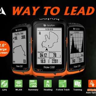 100%NEW Bryton Rider 310/330/530 GPS Cycling Computer Bundle中文無線連網自行車導航記錄器套裝(含 F-Mount 延伸座,ANT+二合一腳頻速度sensor與心跳帶)~~~送機身保護套連膜