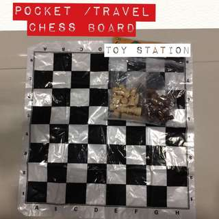 POCKET / TRAVEL CHESS BOARD