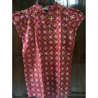 Batik semi-cheongsam