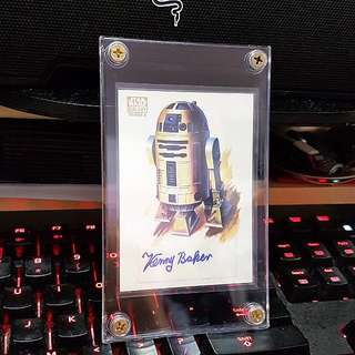 Topps 2010 Star Wars Galaxy Series 5 Kenny Baker As R2D2 Autograph