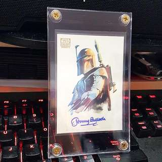 Topps 2010 Star Wars Galaxy Series 5 Jeremy Bulloch As Boba Fett Autograph