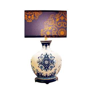 Chinoiserie (Canvas + Porcelain Lamps) 02