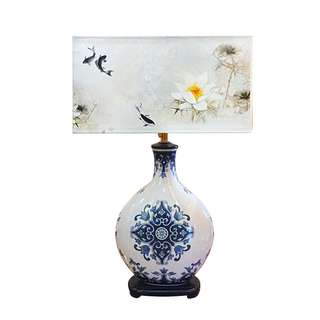 Chinoiserie (Canvas + Porcelain Lamps) 03