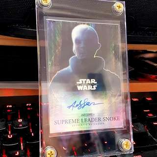 Topps Star Wars The Force Awakens Andy Serkis As Supreme Leader Snoke Limited 22/50 Refractor Auto Card