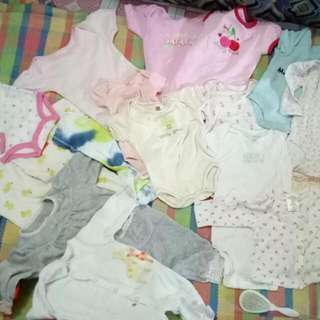 Sold as lot 500 only 15 pcs. assorted onesies
