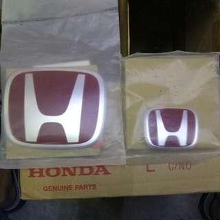 Honda H Emblem (Red)  Original  Different Car Different Side Interested Please PM Me, Thanks 😙✌