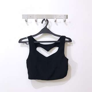 Love Shape Crop Top