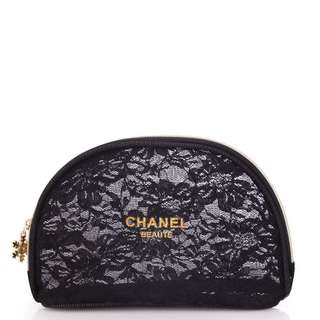Chanel Lace Make Up Bag