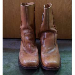 Light Brown Leather Boots