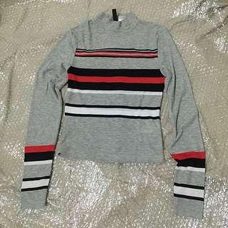 H&M long sleeve stripes top