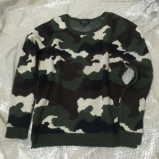 TOPSHOP Warm knitted Camo Sweater