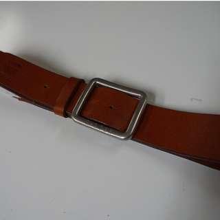 Light brown G-STAR leather belt