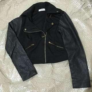 Women's Motorcycle Jacket (half leather)