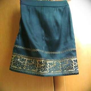 Black Pattern Skirt