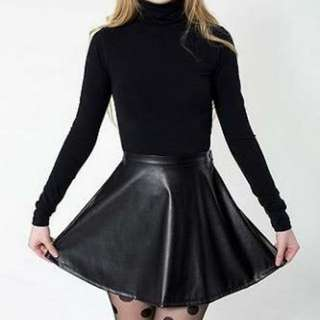 American Apparel Genuine Leather Skirt