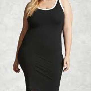 Forever 21 Black Contrast Tank Dress