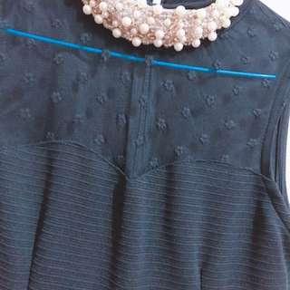 珍珠領 洋裝