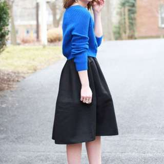 Express Black Midi Skirt Brand New